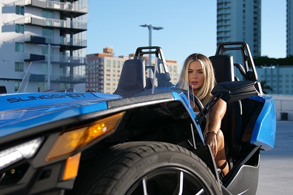 3 wheeler polaris slingshot for rent in Miami